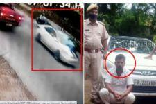 Polisi Ini Rela Nomplok Kap Mesin Mobil Demi Menangkap Pelaku Tabrak Lari, Lihat Itu - JPNN.com
