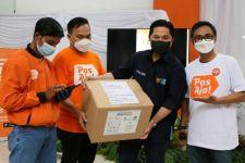 Erick Thohir Jajal Keunggulan Aplikasi PosAja! untuk Kirim Paket Vitamin - JPNN.com