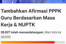 Jumlah Dukungan Petisi Tambahkan Afirmasi PPPK Guru Sangat Mengejutkan - JPNN.com