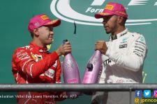 Ferrari Pilih Sebastian Vettel Ketimbang Lewis Hamilton - JPNN.com