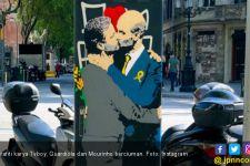 Saat Guardiola dan Mourinho Berciuman di Barcelona - JPNN.com