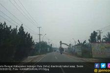 Kabut Asap Kebakaran Hutan dan Lahan Selimuti Kota Rengat - JPNN.com