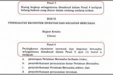 UU Cipta Kerja Sudah Diteken Jokowi dan Dinomori, tetapi Masih Ada Tipo Seperti Ini - JPNN.com
