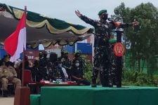 Sambut Satgas Pamtas Yonif 122 dan Yonmek 611, Begini Penampakan Brigjen TNI Bangun, Luar Biasa - JPNN.com