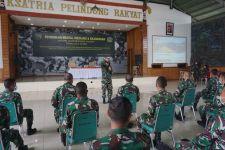 Prajurit dan PNS Korem 174 Merauke Ikuti Pembinatan Mental Ideologi dan Kejuangan - JPNN.com