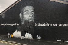 Mural Marcus Rashford Dirusak Setelah Kegagalan Inggris di Final EURO 2020 - JPNN.com