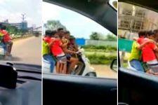 Aksi Nekat! Tujuh Bocah Berboncengan di Satu Motor, Polisi Langsung Bergerak - JPNN.com