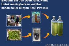 Sampah Diolah Jadi BBM, Temuan Mahasiswa UB Ini: Sekali Tepuk, 2 Lalat Mati - JPNN.com Jatim