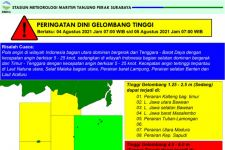 Awas, Gelombang Laut Selatan Jatim Bisa Sampai 6 Meter Belakangan Ini - JPNN.com Jatim