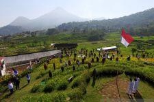 Lihat Bagaimana Petani Mojokerto Gelar Upacara Kemerdekaan di Sawah - JPNN.com Jatim