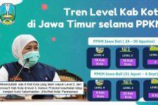 Daerah di Jatim yang Terapkan PPKM Level 2 dan 3 Makin Banyak, Khofifah: Alhamdulillah - JPNN.com Jatim