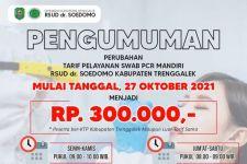 Turun Rp 50 Ribu, Tarif Tes Usap PCR di RSUD Trenggalek Jadi Rp 300 Ribu - JPNN.com