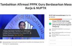 Banyak Guru Honorer Tumbang, Petisi Tambahkan Afirmasi PPPK Mendekati 100.000 Tanda Tangan - JPNN.com