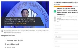 Petisi Tambahkan Afirmasi PPPK Guru 2021 Ini untuk Pak Jokowi & Mas Nadiem - JPNN.com
