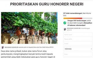 Petisi Prioritaskan Guru Honorer Negeri: Hargai Masa Pengabdian Melebihi Serdik - JPNN.com