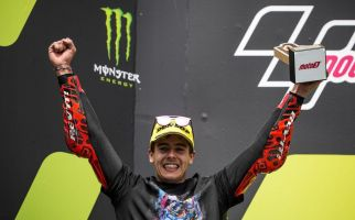 Makin Berkibar, Indonesian Racing Gresini Raih Podium Juara 2 Moto3 di Catalan GP 2021 - JPNN.com